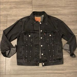 Levis studded denim bf jacket